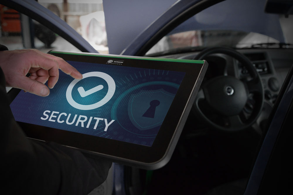 Authorized Diagnosis on Vehicles protected against Third-Party Access to Data