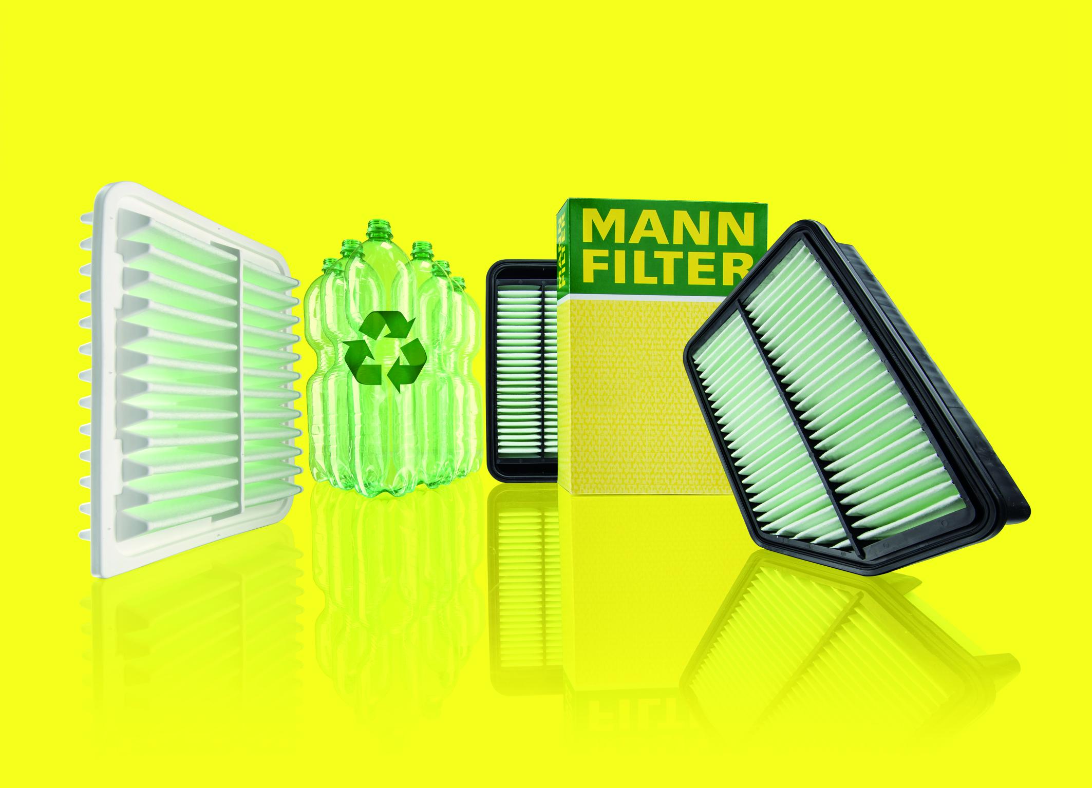 Τώρα ακόμα περισσότερες ίνες από ανακυκλωμένα υλικά στα φίλτρα αέρα της MANN-FILTER